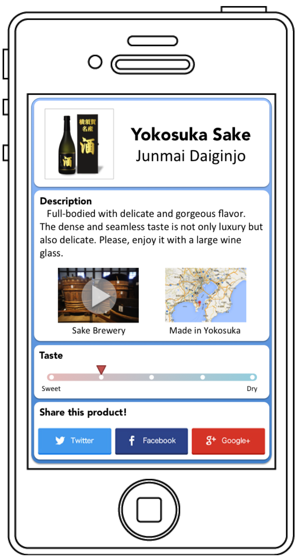 地域商品の情報が外国語で表示されます。